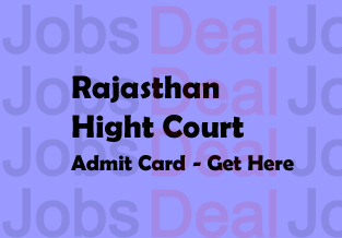 Rajasthan High Court Admit Card 2017
