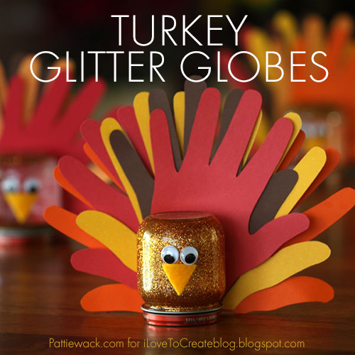 Turkey Glitter Globes Ilovetocreate