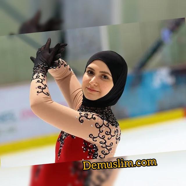 Kisah Inspiratif Perempuan Hijaber Pertama Ikut Kompetisi Ice Skating