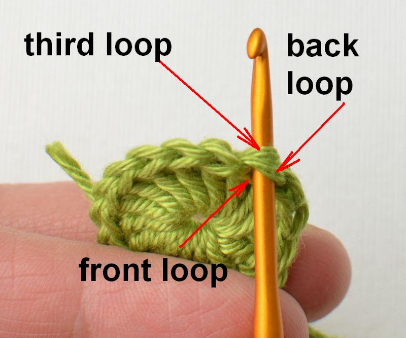 TIP: crochet in Back Loops with NO Holes