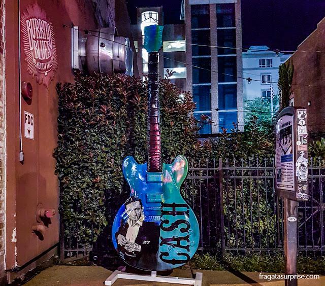 Homenagem a Johnny Cash na Beale Street, Memphis