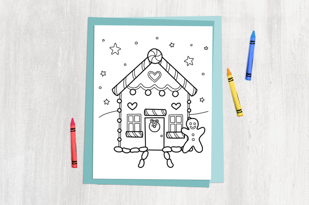 free printable winter colouring page