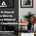 India and Finland signs MoU to enhance bilateral defence cooperation