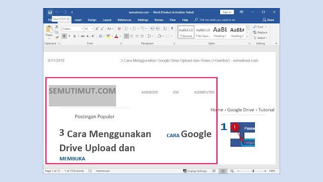cara edit file pdf dengan word