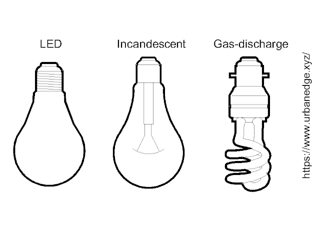LED, Light bulb & CFL free cad blocks download