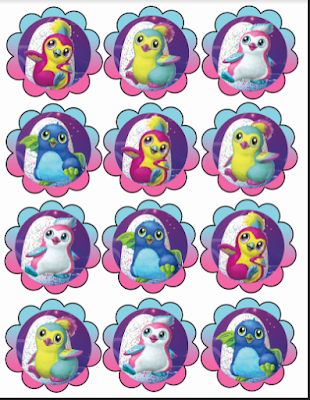 Free Hatchimals cupcake toppers