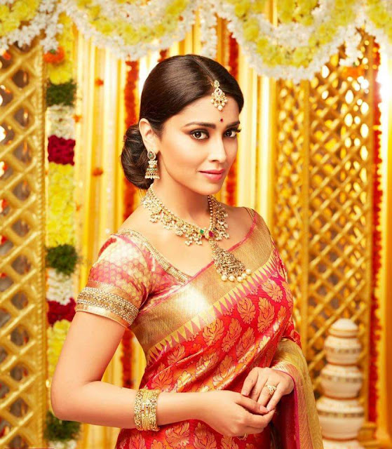 Shriya Saran Latest Saree Stills