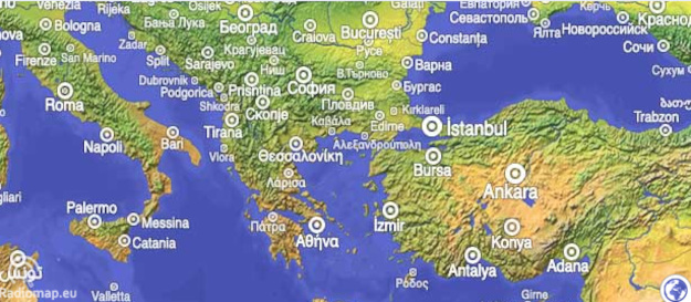 World Radio Map