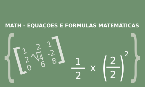 criar equacoes matemáticas no writer do libreoffice