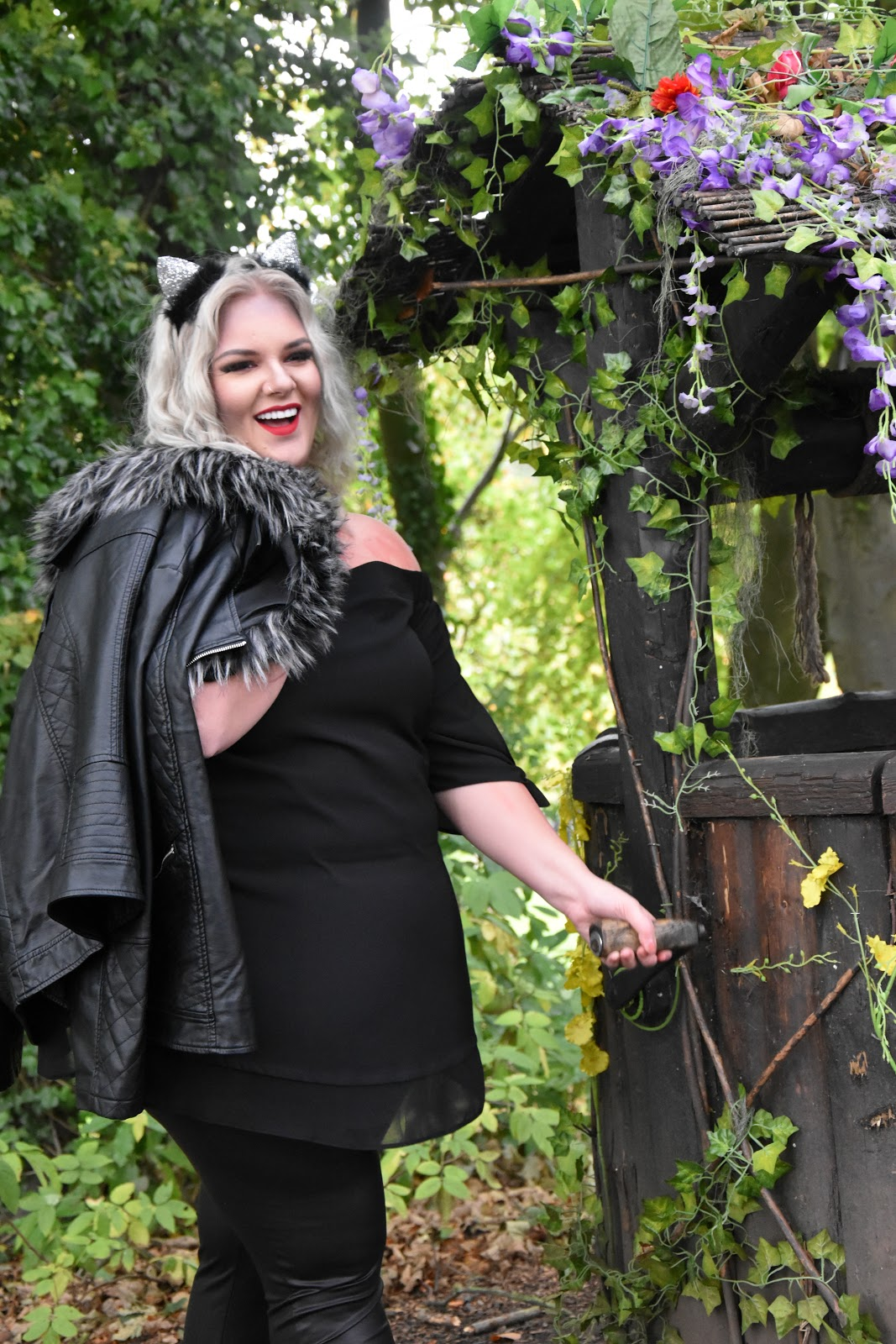 The Plus Size Faux Fur Leather Look Jacket You NEED This Autumn from Yours Clothing at The Alnwick Garden