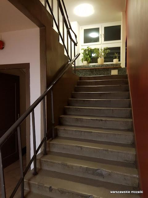 klatka schodowa Dom Związku Harcerstwa Polskiego harcerze architektura architecture modernizm Warszawa Warsaw MDK Lazienkowska
