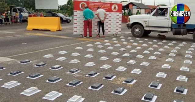 Detenidos por levar 119 kilos de cocaína esconsidos en bloques de Queso