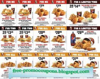 Free Printable Kfc Coupons