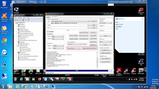 Cara Hapus Pola / Kata Sandi / FRP Akun Google Vivo Y12s V2026 Tanpa Dongle UMT Via Remote Teamviewer