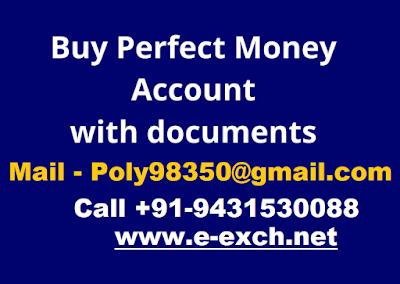 Buy perfect money verified account