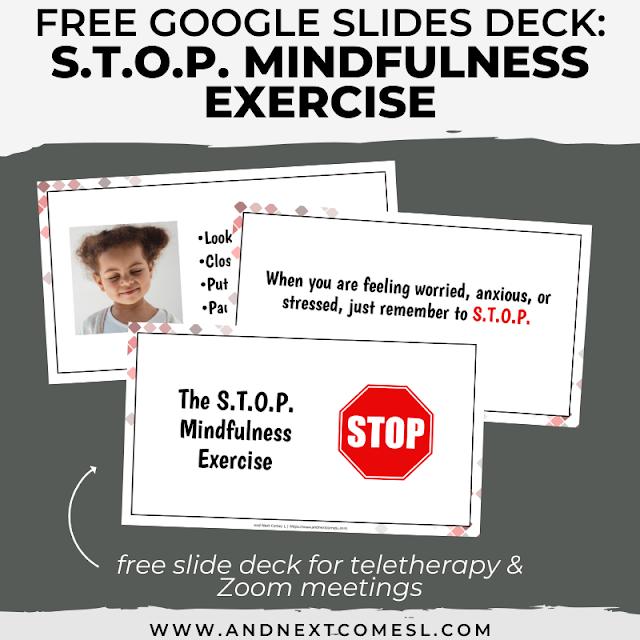 No print Google Slides deck for teaching mindfulness