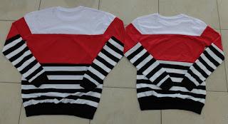 Jual Online Sweater Salur Kombinasi Murah Jakarta Bahan Babytery Terbaru