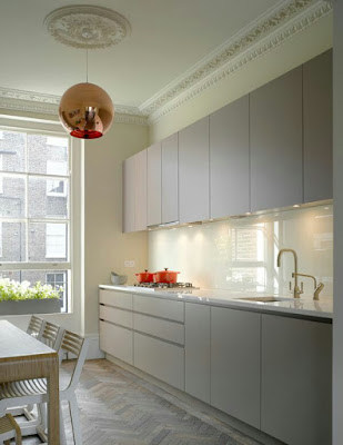 contoh gambar desain kitchen set lurus
