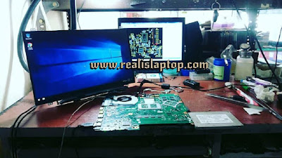service laptop asus x550c layar led tidak mau menyala