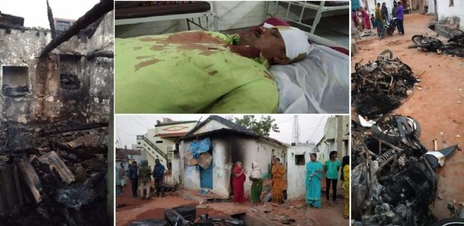 Jihadi mob attacks Hindu homes in Bhainsa, Telangana - 18 houses belonging to Hindus burnt and properties looted