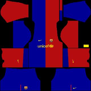 Barcelona 2009/2010 Classic Kits Dream League Soccer