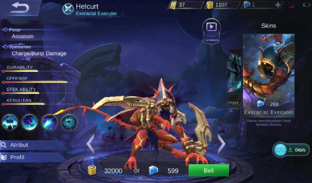 Gear dan Build Item Helcrut Savage Full Damage Tersakit dan Mematikan Mobile Legend