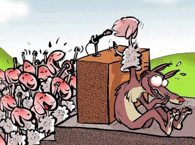 El líder del partido es mi pastor, nada me faltará