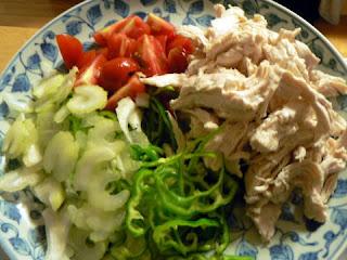 鶏肉サラダ完成