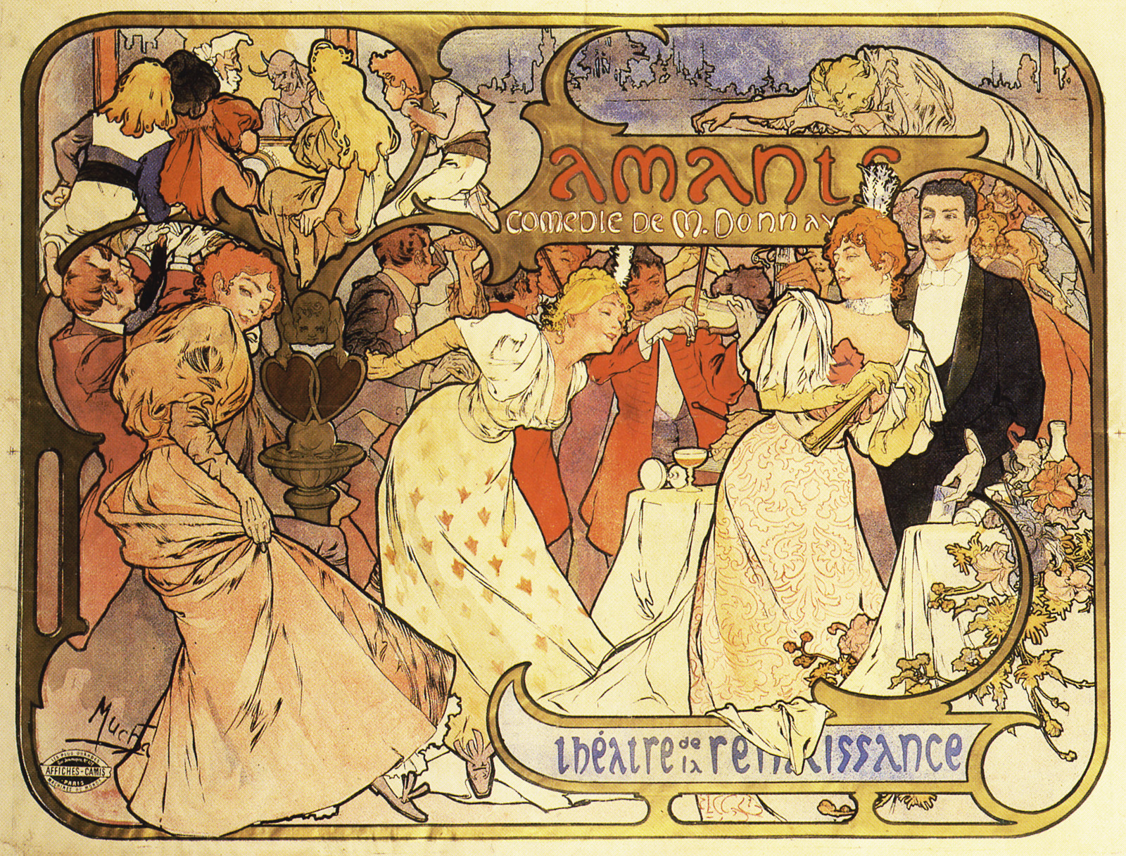 Art nouveau wallpaper australia - Davidovic