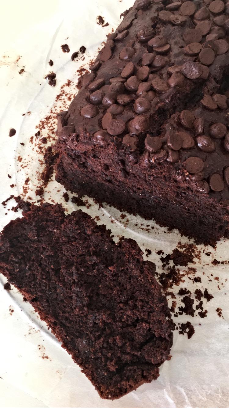 cake-de-chocolate-y-platano-receta