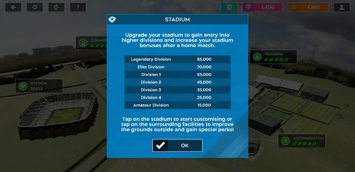 Level Divisi DLS20 Dan Persyaratan Kapasitas Stadion