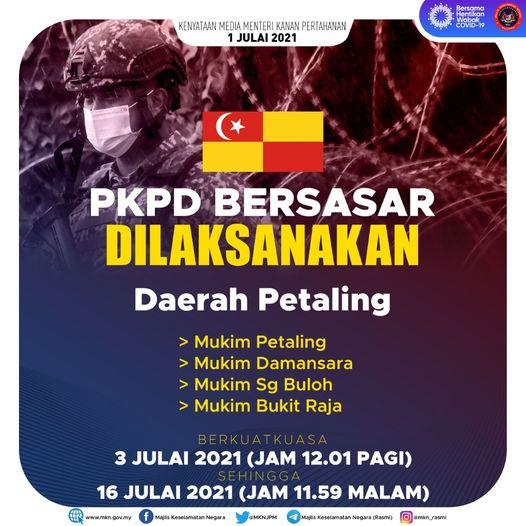 PKPD bersasar di Daerah Petaling, Selangor