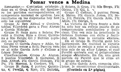 6ª ronda de la fase previa del XI Campeonato de España Individual de Ajedrez , Mundo Deportivo (1)
