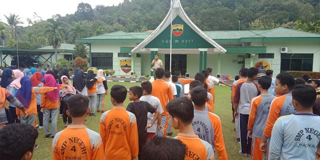 Tanamkan Kedisplinan Dan Cinta Tanah Air  Kodim 0311/Pessel Latih Pelajar PBB