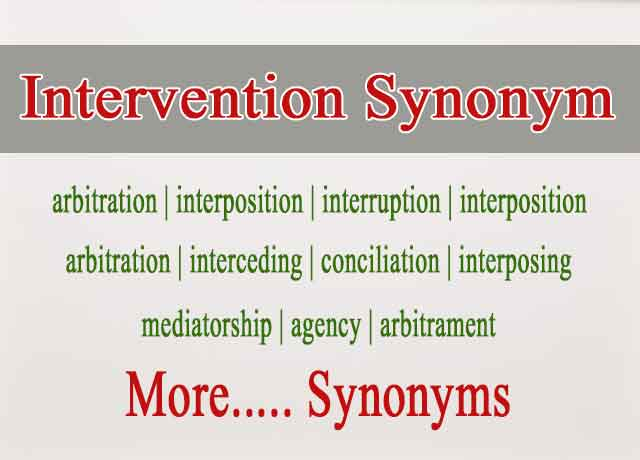 178 Best Intervention Synonym and Similar Words