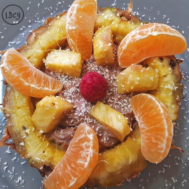 Crema De Mascarpone Y Cacao Con Frutas