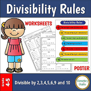 Divisibility rules of whole numbers help us to quickly determine if a number can be divided by 2, 3, 4, 5, 9, and 10 without doing a long division.