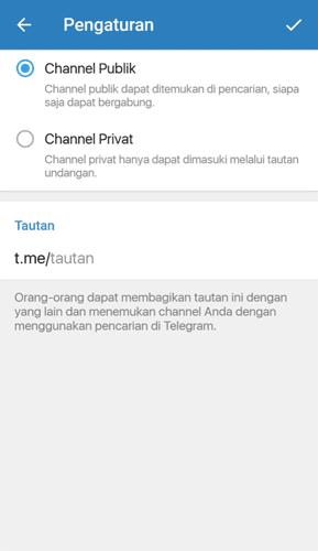 Channel Telegram Public atau Private
