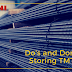 To do or not to do - for Storage of TMT bars
