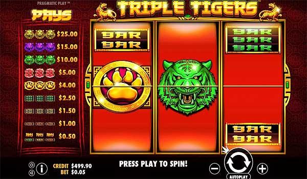 Main Gratis Slot Indonesia - Triple Tigers (Pragmatic Play)