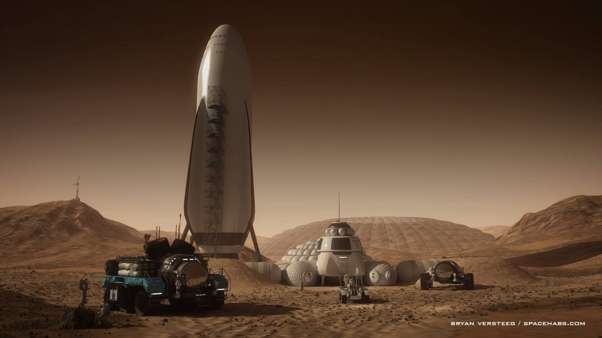 SpaceX+spaceship+at+Mars+base+by+Bryan+Versteeg.jpg