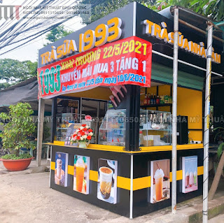 Kiot bán cà phê trà sữa rẻ đẹp tại Bình Dương