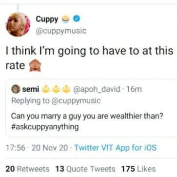 'I Think I'll Just Marry Someone I'm Richer Than' - DJ Cuppy Reveals Why She Broke Up With Asa Asika
