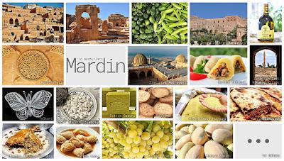 Mardin'in meşhur şeylerini gösteren resimlerden oluşan kolaj