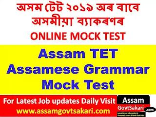 Assam TET Assamese Grammar Mock Test