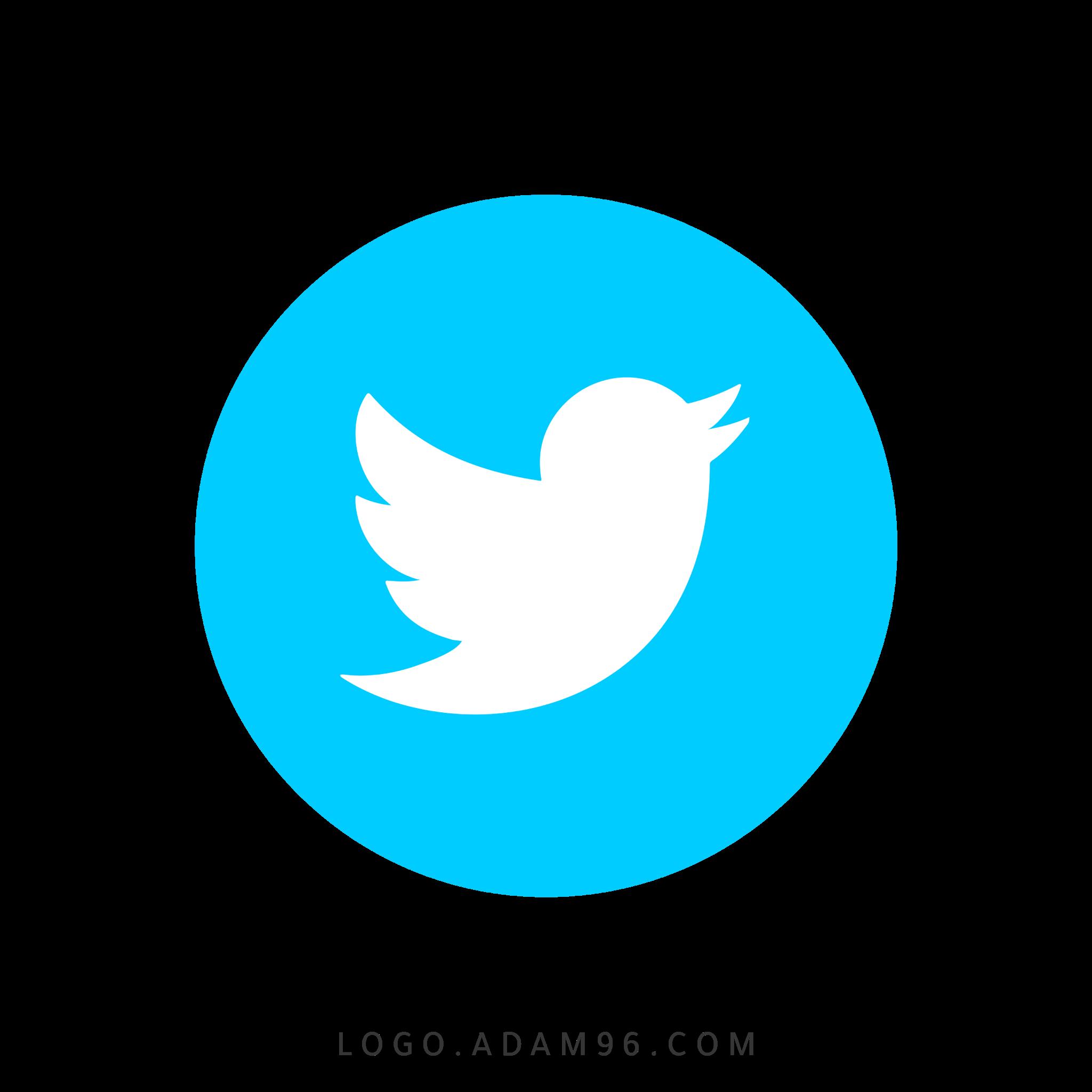 تحميل ايقونة موقع تويتر دائرية لوجو تويتر عالي الجودة بصيغة PNG