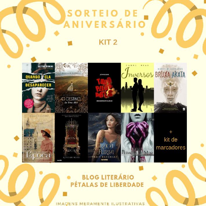 Sorteio: 9 anos do blog Pétalas de Liberdade | 27 livros para 3 ganhadores