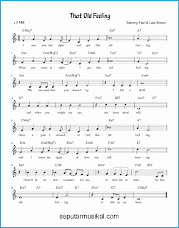 chord that old feeling lagu jazz standar