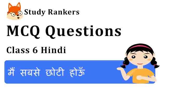 MCQ Questions for Class 6 Hindi Chapter 13 मैं सबसे छोटी होऊँ Vasant