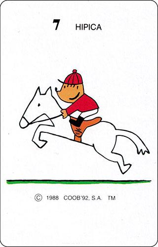 Baraja Cobi Heraclio Fournier Carta 7 Hípica